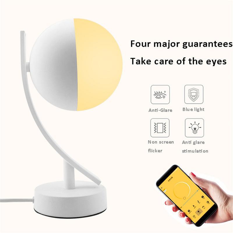 Mini Bedroom Simple Wireless Wifi Smart Table Lamp LED Table Lamp Atmosphere Warm Light|Desk Lamps| |  - title=
