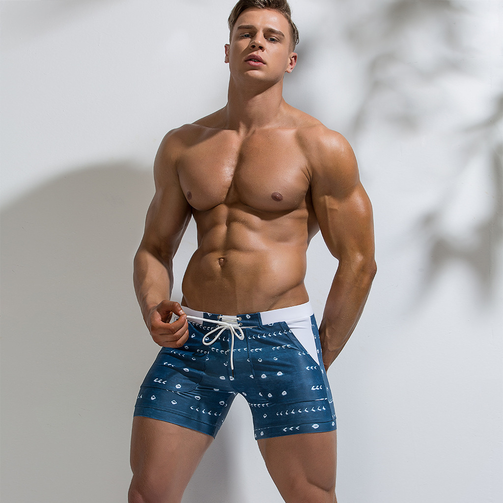 Wade Sea 2019 Men Swimwear Sexy Swimming Trunks Boxer Beach Shorts For Men