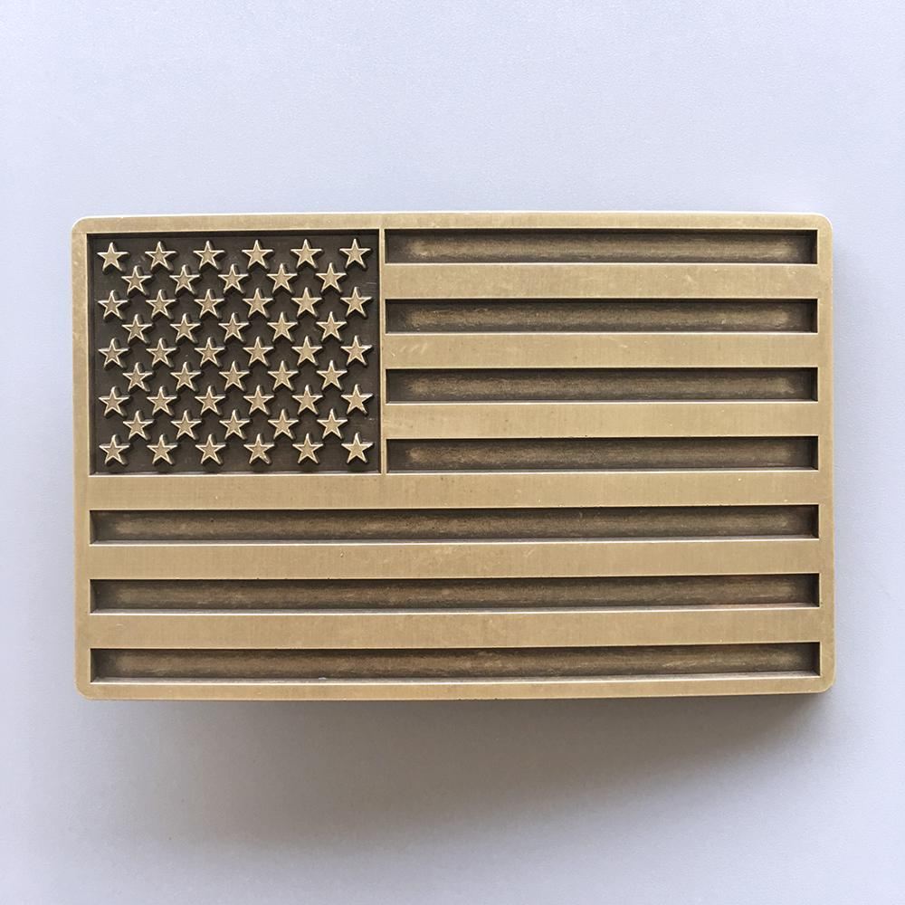 New Vintage Bronze Plated American USA Flag Belt Buckle Also Stock In US Gurtelschnalle BUCKLE-FG028AB Free Shipping