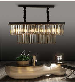 Square Retro Black American Crystal Pendant Light Black For Dining Room Restaurant Bedroom Study Room Living Room LED E14 bulbs - Category 🛒 Lights & Lighting