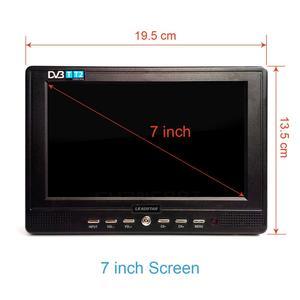 Image 5 - LEADSTAR D768 7 дюймовый портативный телевизор, цифровой и аналоговый мини Телевизор с поддержкой USB TF MP4 H.265 AC3