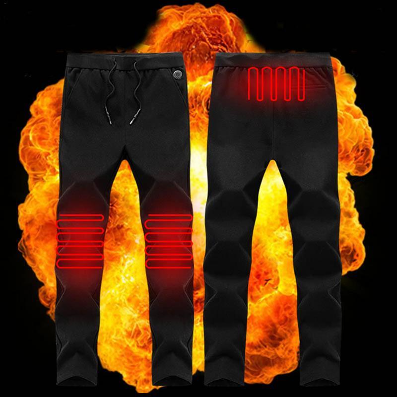 Électrique chauffé chaud pantalon hommes femmes USB chauffage couche de Base élastique pantalon