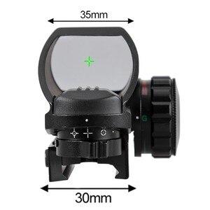 Image 5 - 전술 반사 적색 녹색 레이저 4 레티클 홀로그램 투영 도트 시야 범위 에어건 시력 사냥 11mm/20mm 레일 마운트 AK