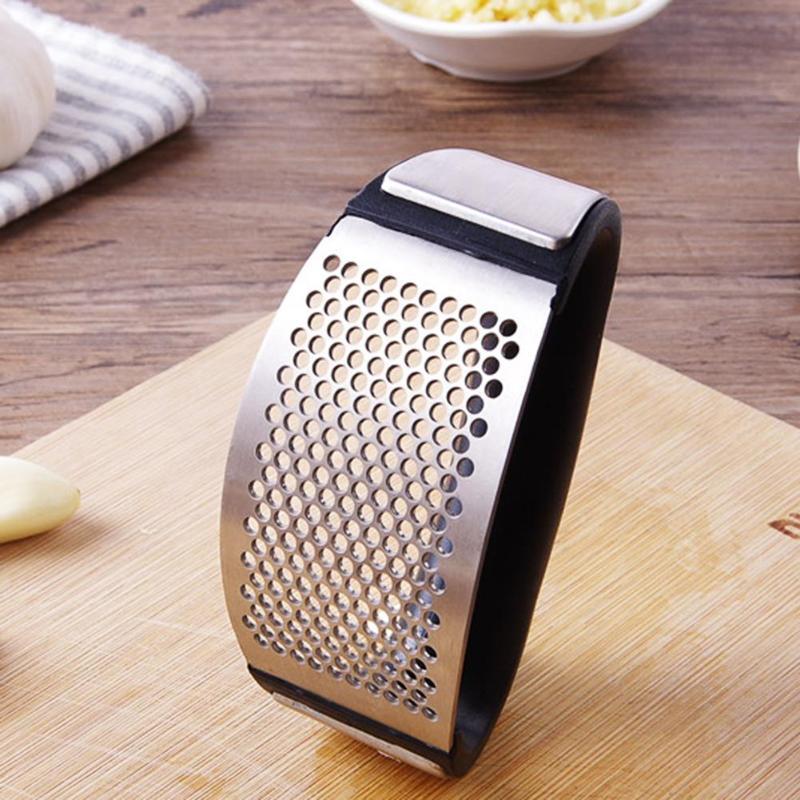 1PC acier inoxydable ail Presser manuel ail hachoir hacher ail outils courbe fruits légumes outils cuisine Gadgets 1
