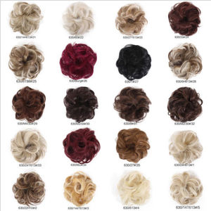 Image 5 - Curly Messy Bun Hair Piece Scrunchie Updo Cover Hair Extensions Real as human Holiday DIY Decorations