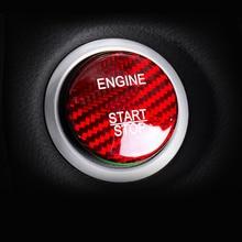 Углеродного волокна салона двигателя Кнопка запуска и остановки покрытие стикер для отделки для BMW E60 E90 E91 E92 E93 E70 F10 F12 F25 F26 F15 F16