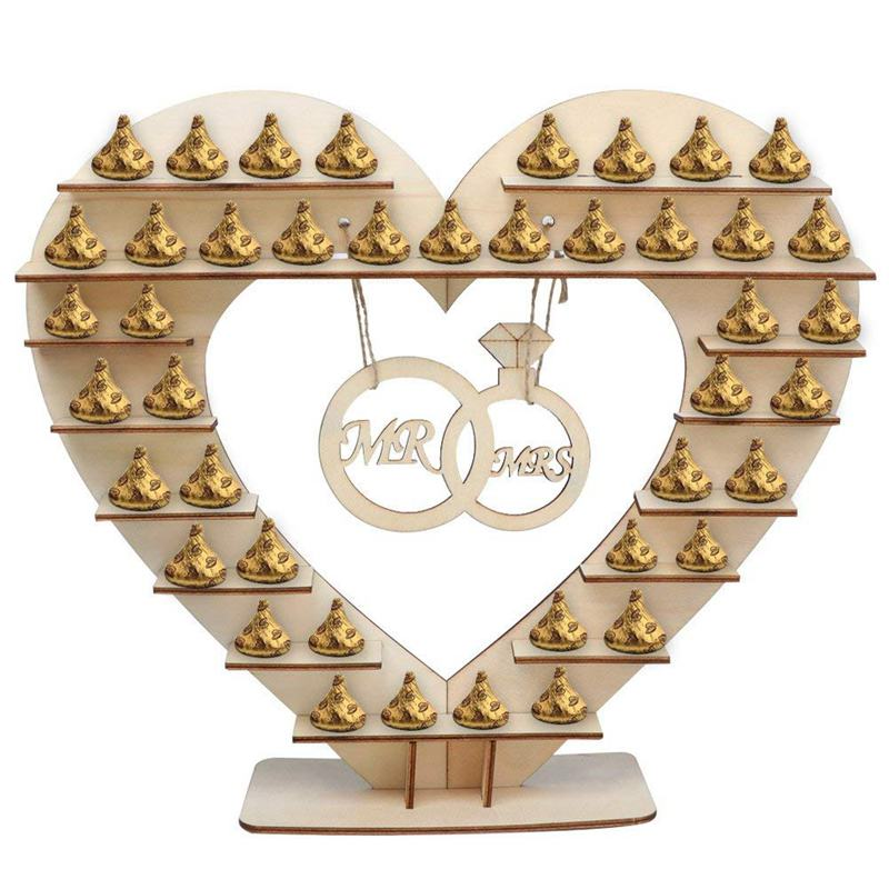 Mr And Mrs Chocolate Stand,for Ferreo Rocher Wooden Chocolate Stand,for Hershey Kisses Wedding Candy Stand, Perfect Decoration