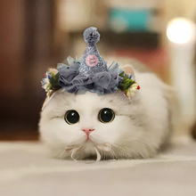 Pet Cat Dress Up Lace Head Accessories Headband Flower Hat Headdress Costume For Kitten
