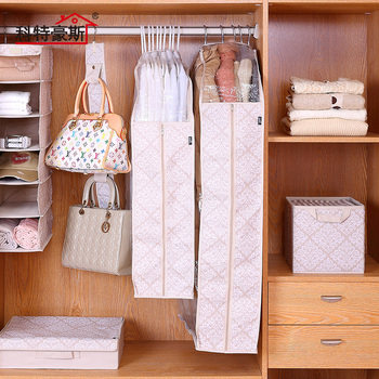 Hello Kitty Clothes Suit Set Dustproof Bag Carrier Dustproof Set Organiser Organized Closet Hanging Cloth Wardrobe Organizer