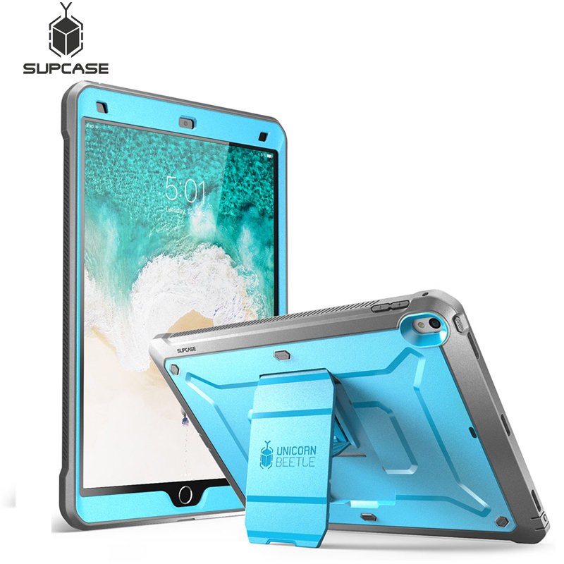 Heavy Duty Full Body Stand Cover Case w// Screen Protector for iPad 9.7 2018//2017