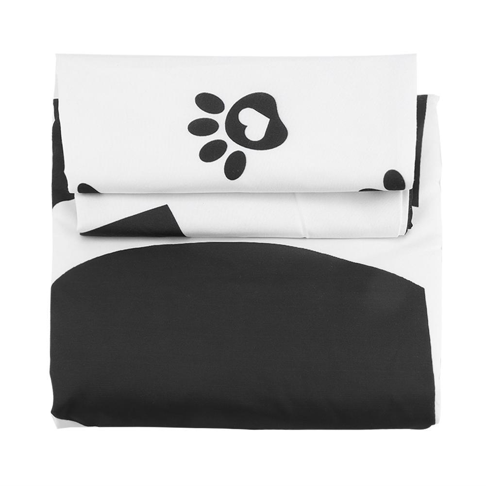Bedding Set luxury Dog Pattern Bed Pillowcase Quilt Duvet Pillow Cover for Home Bedding Set Room flat sheet No filler 2019 bed