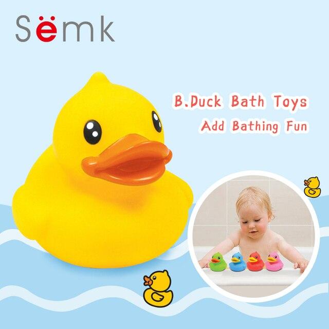Semk детские игрушки для ванной Уточка из ПВХ душ вода плавающая Мини Ванная комната игрушки для вечерние подарки на день рождения 1 шт. Плавание пляжная игрушка