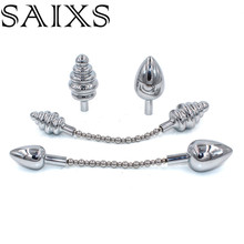 Double Head Anal Plug Sex Toys Metal Butt Plug Both for Men and Women Couple Gay Anal Sex Toys Dildo Drop shipping