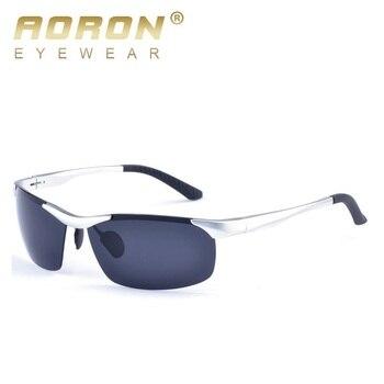 7d6d4e2370 AORON nueva marca de aluminio de sol polarizadas para hombres,  revestimiento de la lente, gafas de sol para hombre gafas de sol