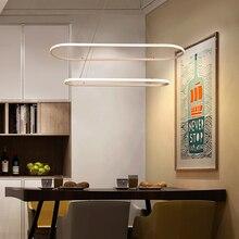 Minimalist Modern LED pendant lights For Diningroom Kitchen lustre suspension hanglamp nordic aluminum lamp led Fixtures