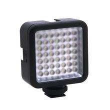 Mini DC 3V 5.5W 49 LED Video LED lamba 6000K DSLR kamera kamera için DVR olarak dolgu işık haber röportaj makro fotoğrafçılığı