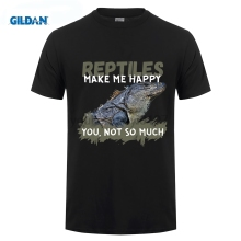 GILDAN Funny Clothing Casual T Shirts Gildan Reptiles Short Men Crew Neck Best Friend