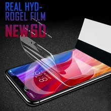 New 6D Full Cover Protective Hydrogel Film On The For Xiaomi Mi 9 9SE Redmi 6A 7 5 Plus Note 6 5 7 Pro Screen Protector Film HD 2pcs pack good hd screen protector for apple new 2017 ipad 9 7 pro 9 7 air 1 2 protective film cover alcohol bag rag
