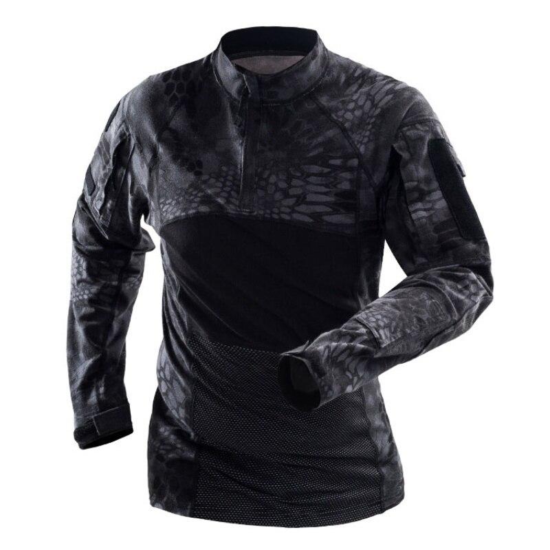 Kryptek Typhon камуфляжная армейская Военная тактическая рубашка мужская камуфляжная быстросохнущая походная футболка уличная охотничья боевая рубашка