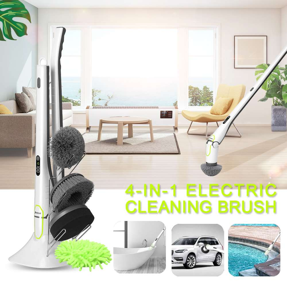 1Set Electric Cleaning Brush Cleaner Home Sweeping Dust Sterilize Smart Washing Mopping for Car Bathroom Kitchen