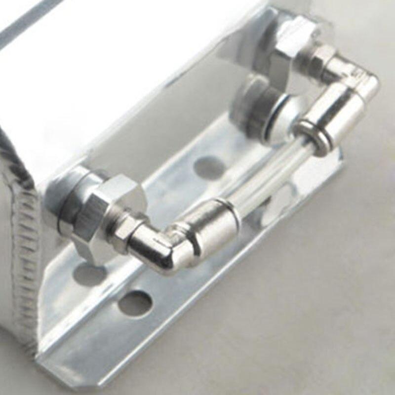 1 set universel 1L aluminium liquide de refroidissement radiateur trop plein récupération bouteille de réservoir d'eau - 4