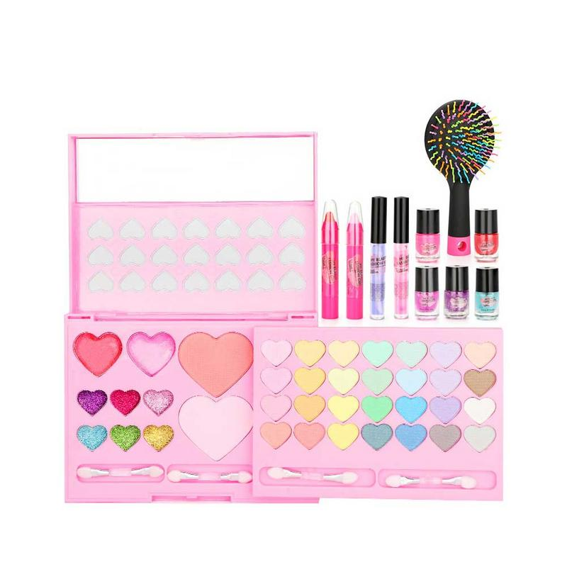 Beauty Essentials Fashion Makeup Love Heart Star Shape Girls Make Up Toys Diy Simulation Cosmetics Pretend Play Maquiagem Profissional Completa Beauty & Health