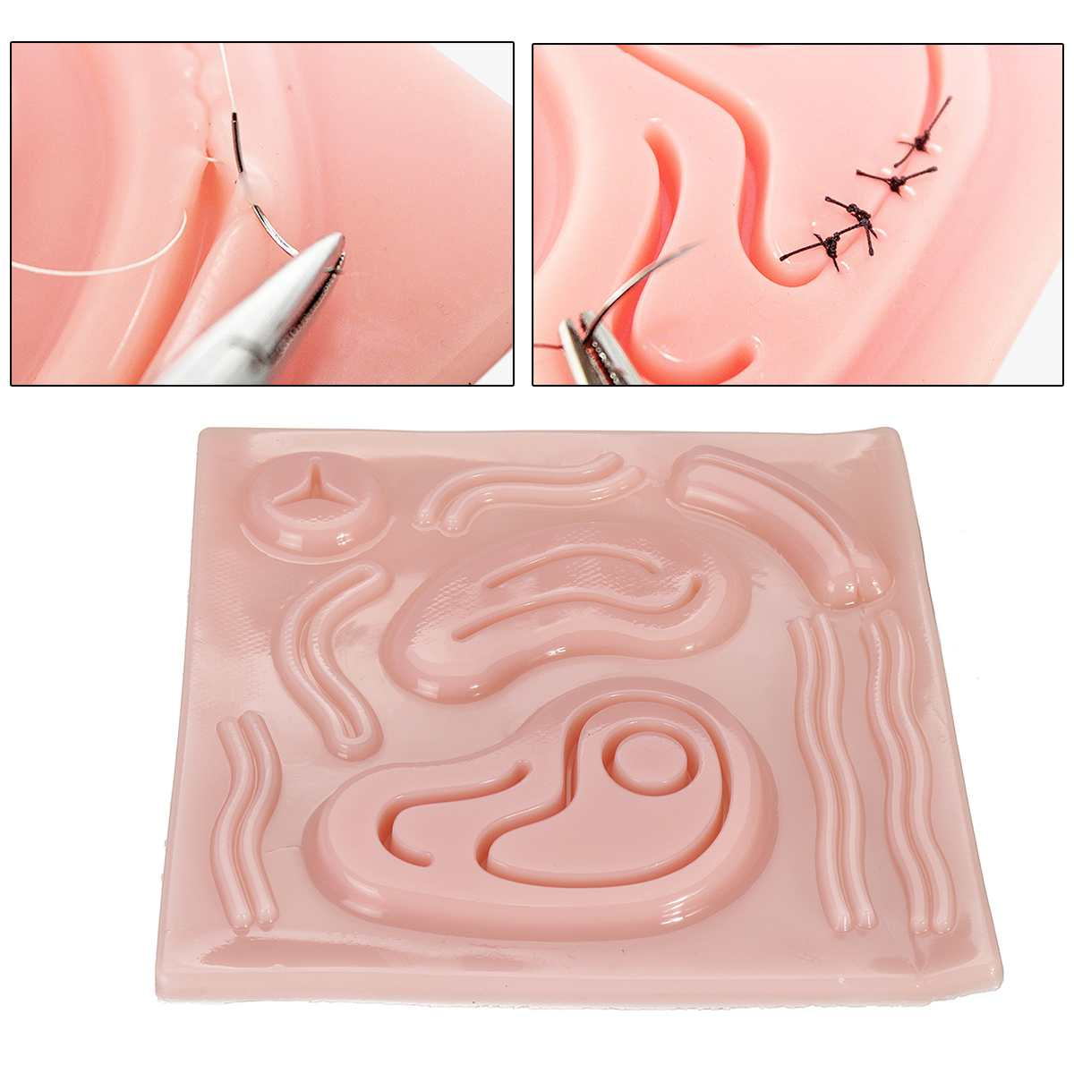 Laparoscopic Simulation 3D Silicone Stitching Module Surgical Training Skin Suture Pad Soft Lifelike For Teaching DemonstrationsLaparoscopic Simulation 3D Silicone Stitching Module Surgical Training Skin Suture Pad Soft Lifelike For Teaching Demonstrations