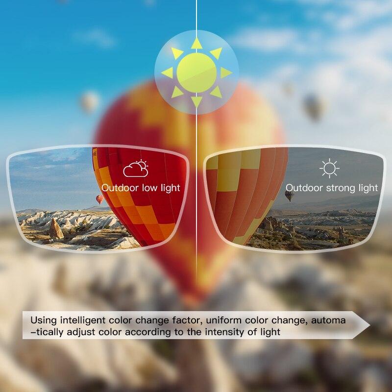 CAPONI prescription glasses lenses photochromic Anti-blue light myopia hyperopia progressive 1.56,1.61,1.67 2 piezas/1 par