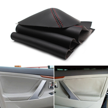 Microfiber Leather Car Styling Interior Door Panel Cover Trim For Toyota Camry 2006 2007 2008 2009 2010 2011 2012 цена