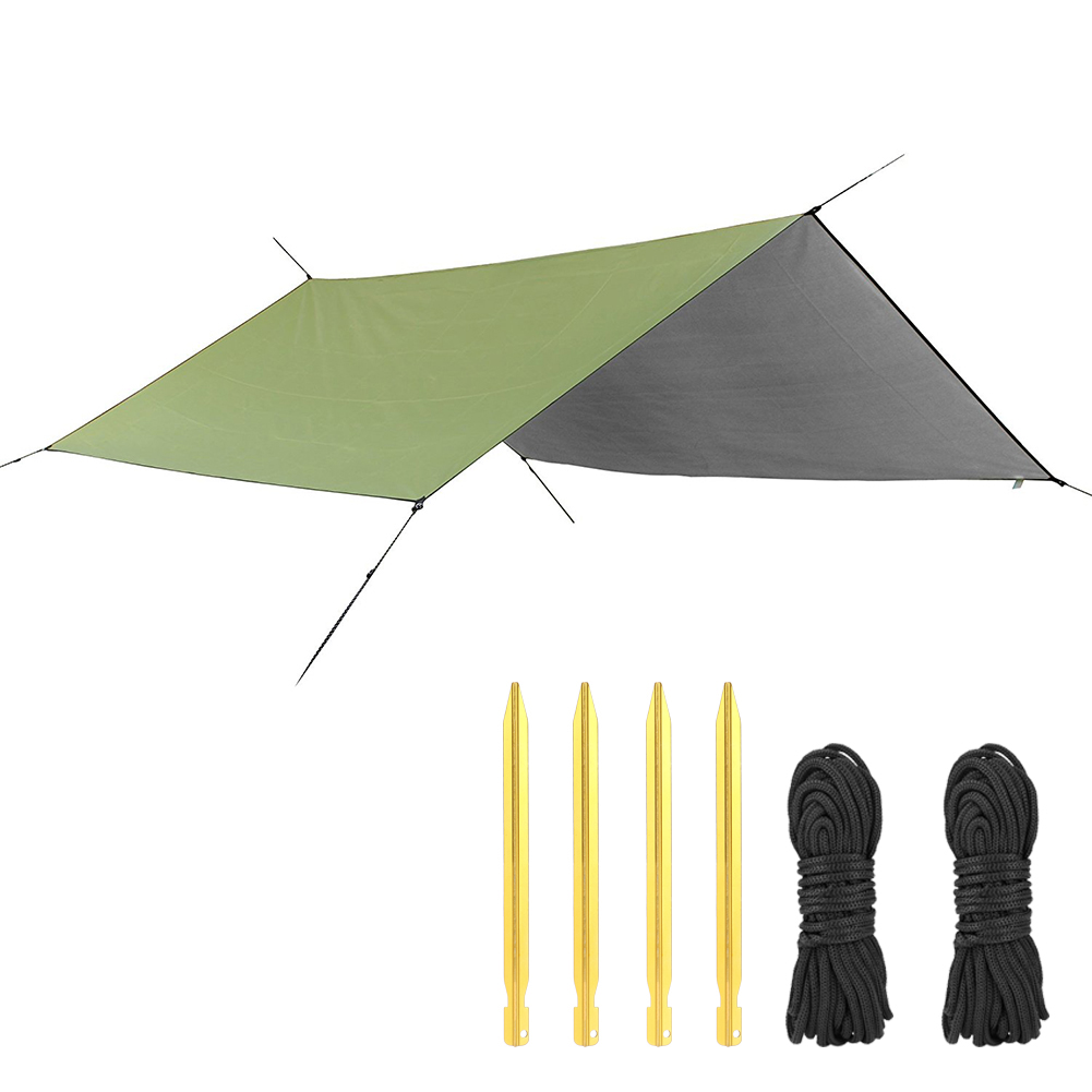 Waterproof Sun Shelter Awning Tent Tarp 3x3m Outdoor Camping Hammock Rain Fly Anti UV Beach Tent Shade Camping Sunshade Canopy