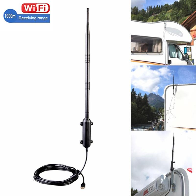 1000M Outdoor WiFi USB2.0 Adapter WiFi Antenna 802.11b/g/n Signal Amplifier Wireless Network Card Receiver High Quality Dropship
