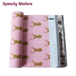 Image 5 - Schnelle Mailer 100PCS 260x330mm 10x13/zoll Gedruckt Weihnachten Hirsch Muster Poly Mailer Selbst abdichtung Kunststoff Umschlag Taschen