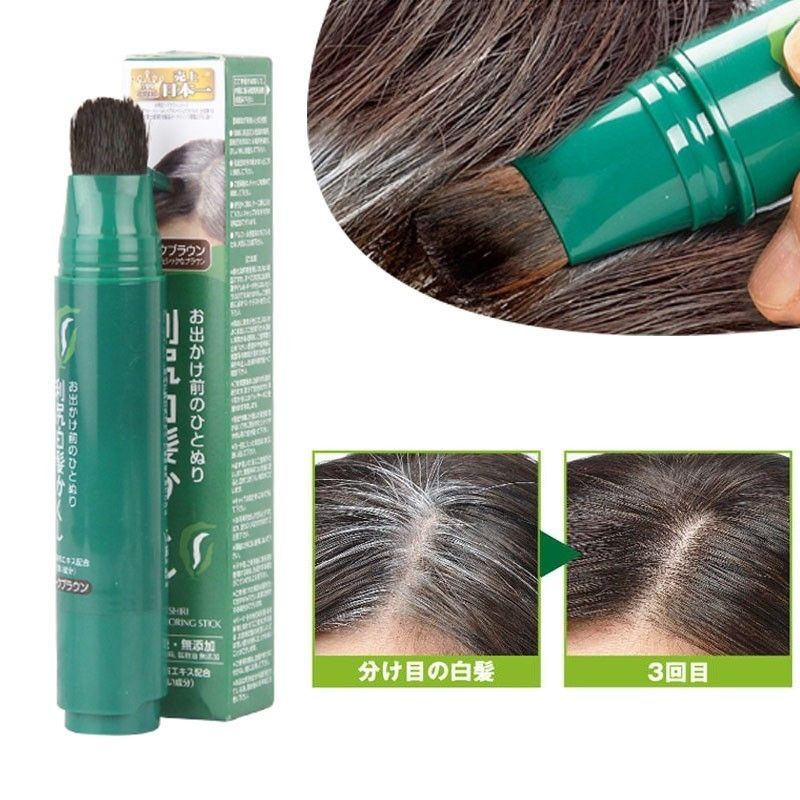 Natural Herb White Hair Cover Pen Long-Lasting Black Brown Temporary Hair Color Hair Dye Cream Fashion One-time Hair Color Pen 100ml unisex gray color temporary hair dying dye cream hair beauty salon tool