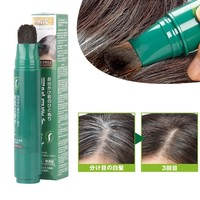 Natural Herb White Hair Cover Pen Long Lasting Black Brown Temporary Hair Color Hair Dye Cream Fashion One time Hair Color Pen