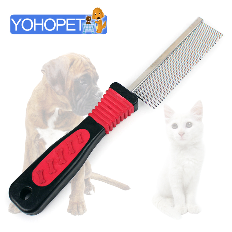 Pet dog cat hair comb Dog Grooming Tools Cleaning Slicker Brush pet Hair Bone Footprint Single side