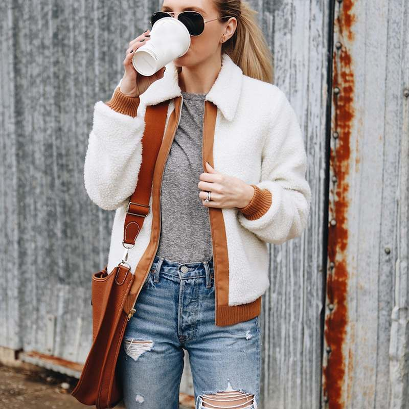 Women Fleece Outwear   Jackets   2018 Winter Femme   Basic     Jacket   Casual Lapel Zipper Warm Fluffy Fur Coats Long Sleeve Chaqueta Mujer
