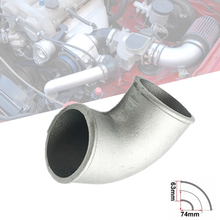 цена на 2.5 Inch Diameter Cast Aluminium Elbow Pipe 90 Degree Intercooler Turbo Tight Bend