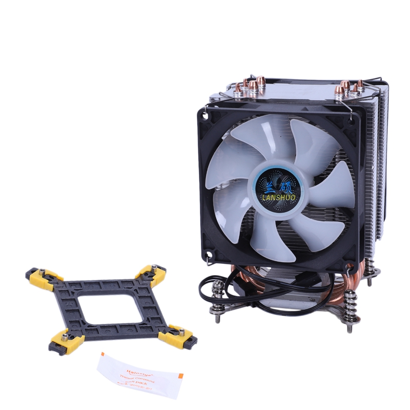 Lanshuo Pure Copper 4 Heat Pipe Thermal Processor <font><b>Cooler</b></font> For Lga /1150 / 1151/1155/<font><b>1156</b></font>/1366 Intel Multi-Platform <font><b>Cpu</b></font> Radiator image