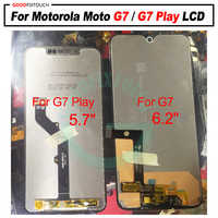AAA Quality 6.2 Inch For Motorola Moto G7 LCD Display Touch screen sensor Panel Digiziter assembly For moto G7 Play lcd