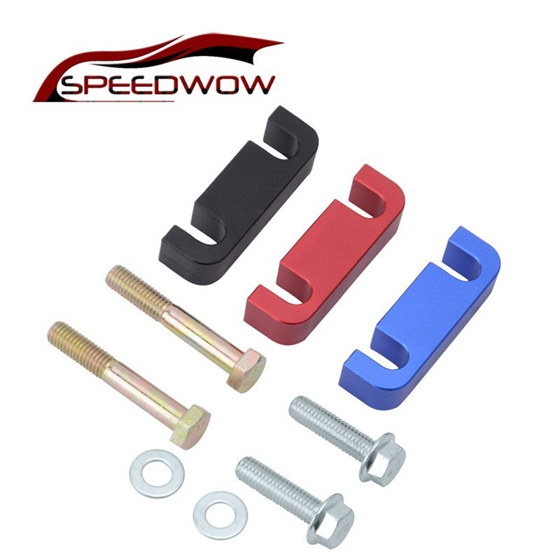 Speedwow Auto Deel 6.6l 1/2 Inch Aluminium Diesel Brandstoffilter Spacer Fit Voor 2001-2016 Duramax Diesel 6.6l Gmc Rood Zwart Blauw Duidelijke Textuur