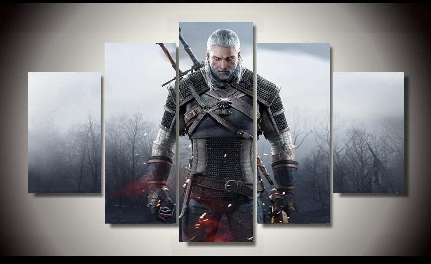 The Witcher 3 Wild Hunt Geralt of Rivia Painting Sofa Background HD Picture Canvas Painting for Home Decor in Painting Calligraphy from Home Garden