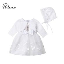 Newbron Lace Clothing Set Casual Princess Baby Girls Dress Flower Christening Wedding Party Kids Clothes стоимость
