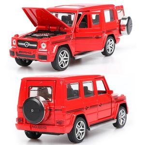 Image 5 - 1:32 stop wycofać Model Model samochodu zabawka dźwięk światło wycofać zabawka samochód dla G65 SUV AMG zabawki dla chłopców dzieci prezent