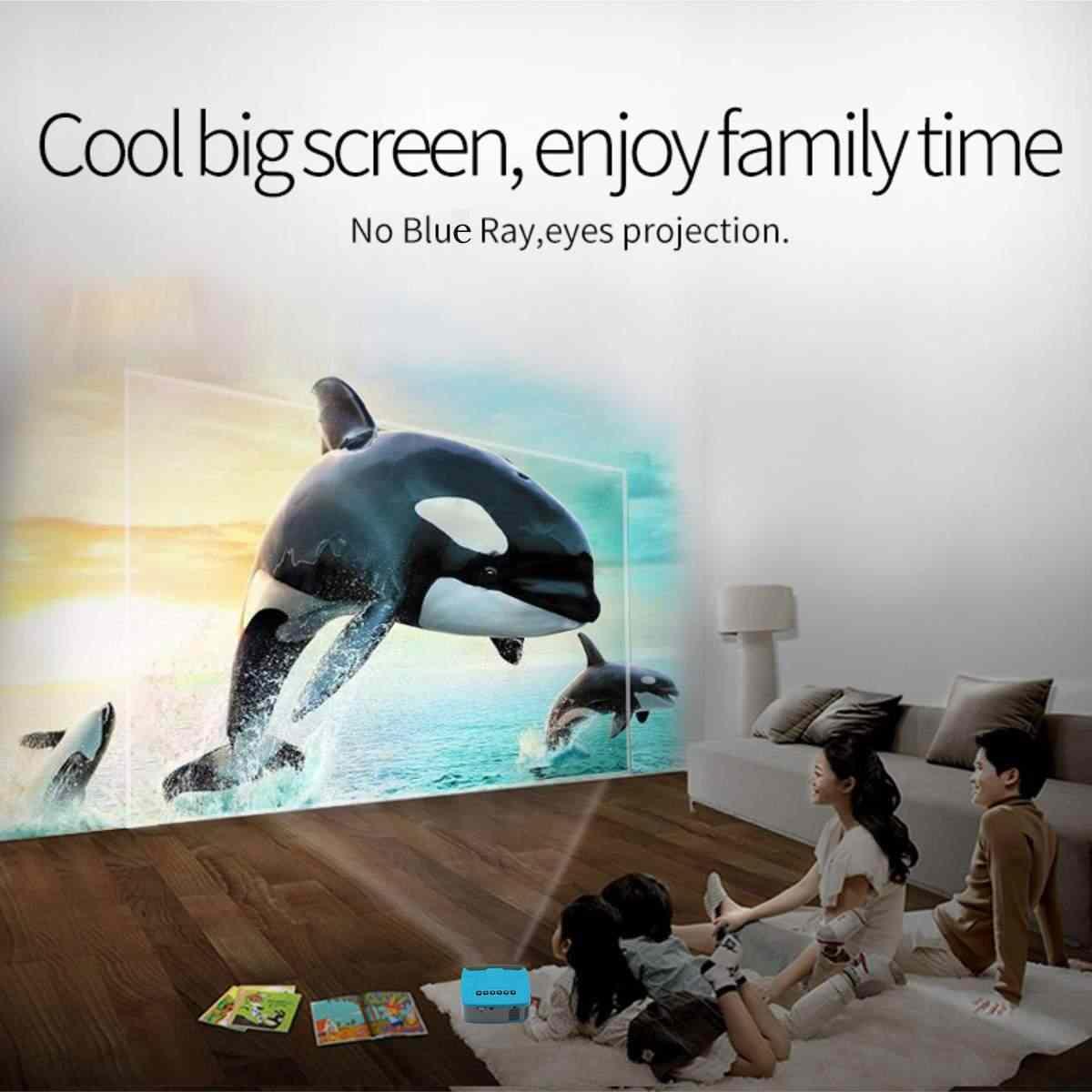 Мини-проектор 680 люмен 1920x1080 P светодиодный Портативный HD мультимедийный проектор для дома Кино поддерживает powerd power bank