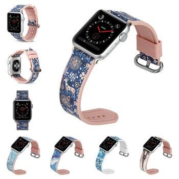 Sport silikonowe wklej skóry pasek na pasek do Apple Watch przypadku 38 42/40/44mm dla iWatch 5 4 3 2 1 malarstwo wieża eiffla opaska na nadgarstek