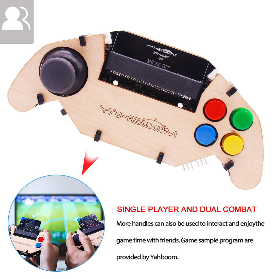 Micro:bit Individual Gamepad Expansion Board Handle Microbit Robot Car Joystick Toys Programming Game Controller