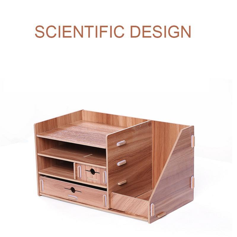 Fournitures de rangement de bureau boîte de rangement de bureau bricolage supports créatifs tiroirs soigné et désordonné matériaux en bois de bureau