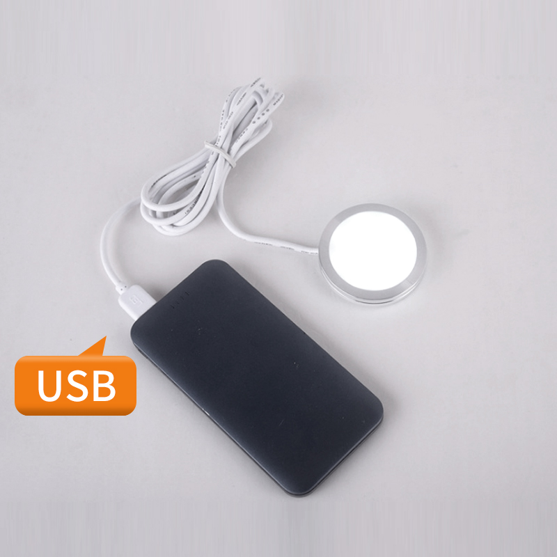 5V ultra thin mini spotlights mobile power USB host computer power supply kitchen cabinet light spot home display built in LED in LED Spotlights from Lights Lighting
