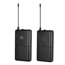 UHF беспроводной микрофон системы передатчик+ приемники набор с петличный нагрудный микрофон с DSLR камеры смартфон для видео интервью