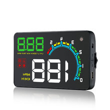 New D3000 Car HUD OBD2 Digital Speedometer Head-Up Display Windshield Projector Overspeed RPM Alarm For All Vehicle Cars цена и фото